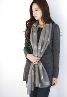 Wholesale Women s Fashion owls design voile Long Wrap Shawl Beach Silk Scarf Scarves Scarves Wraps