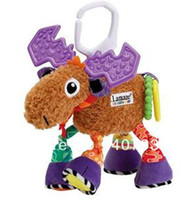 Cheap Wholesale-407-David's deer 10pcs 10.2'' 26cm super cute multifunctional Pere antelope brown lamaze bed hang bell baby toys