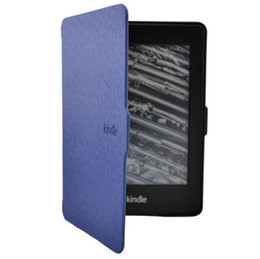 Wholesale Kindle Paperwhite Case Ultra Slim PU Leather Cover Case For Kindle Paperwhite Navy Blue Colors Hot Selling