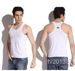 Wholesale asdyWholesale New men vest modal render sleeveless tight sports bodybuilding male h vest