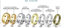 Wholesale asdyWholesale Titanium steel the supreme Lord of the rings The Lord of the rings manufacturers supply foreign trade jewelry ring Golden ma