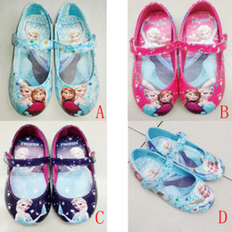 Wholesale Children Shoes Popular Frozen Girls Leather Shoes Kids Cartoon Elsa Anna Casual Shoes Beautiful Girls Spring and Autumn Flat Shoes