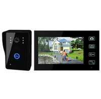 Wholesale Cheaper shipping quot TFT Wireless Video Door Phone Doorbell Intercom System Touch Key Electronic Lock Home Security Entry Intercom