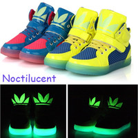 Spring / Autumn childrens shoes - Fashion childrens casual shoes high quality noctilucent shoes for boys girls childrens boots girls boys childrens sneakers