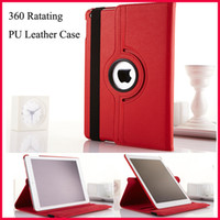 Wholesale Lichee Degree Rotating Folio Stand PU Leather Case For iPad Air Mini Retina Smart Cover Wake Sleep