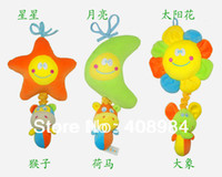 Cheap Wholesale-407-New baby bed hanging violin music toys brand plush toy flower moon,star