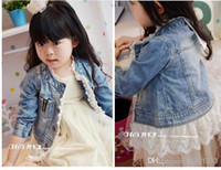 baby girl topcoat - asdyWholesale baby girl denim coats jeans topcoat lace dress outer coat princess jacket children clothes