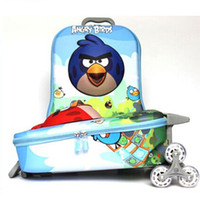 Wholesale Children luggage set backpack school bag Angry birds and KT model inches design for both boys and girls