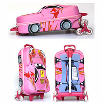 Wholesale NEW Children luggage backpack school bag CAR model inches design for both boys and girls