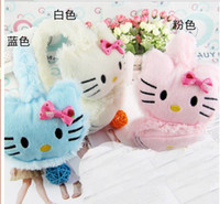 Wholesale 2014 New Cute Winter Lovely Hello Kitty Children s Warm Earmuffs with Bowknot Colors Ear Muff