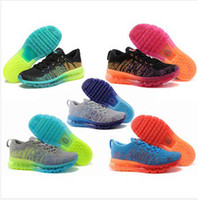 Wholesale 2014 Flyknit Max Shoes Running Shoes Sports Shoes Men women Flyknit shoes Man Athletic Shoes Flyknit training shoes size