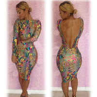 Wholesale Digital printing canvas explosion models fashion sexy nightclub dress club party dresses skirt bandage bodycon bresses