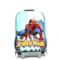 Wholesale Lovely Spiderman pattern EVA material children school bags children backpack children luggage bag inches