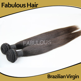 Peut teindre remy extensions de cheveux en Ligne-Fabuleux 5A Virgin Brésilien Straight Hair Extensions Weave 2pcs / Lot non traitées Remy Human Hair Bundles Weft peut être teint, prix le moins cher