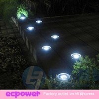 Cheap Wholesale-407-Newest Outdoor Solar Stainless Underground 3 LED Brick Deck Light Garden Street Pathway Decoration Solar Panel Light