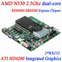 Wholesale all in one computers mini itx motherboard with AMD N330 GHz dual core processor ATI HD4200 integrated graphics RS880M SB820M