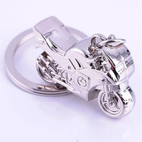 Wholesale Fashion Dull Silver Plated Alloy Motor Bike Shape Key Rings Key Chains Good Gift ZMPJ069