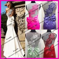 Wholesale Real Sample White Purple Red Fuschia Pearls See Through Back Mermaid Formal Evening Prom Dresses Long Vestido De Festa E5375