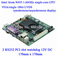 Wholesale Factory direct sale Atom N455 G low power DC12V POS Queue motherboard M58_D45 DDR3 BIT single channel LVDS RS232 PCI slot