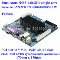 Wholesale Selling industrial fanless POS Queue N455 Atom mini itx htpc motherboard M58_A45E DDR3 BIT single channel LVDS COM ATX PCI