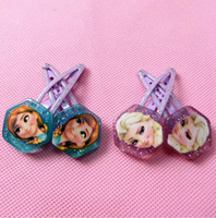 Wholesale Ready to ship Frozen hair clips new Princess Elsa Anna girls cartoon hairpins kids hair accessories metal hair claws