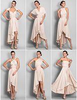 Cheap 2016 summer new design Sheath Column Asymmetrical Jersey Convertible Dresses high quality in stock dresses hot sale cheap chiffon dresses
