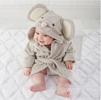 baby bathrobe - Cotton hooded bathrobe bathrobe little mouse baby bath towel absorbent toweling bathrobes lovely towels