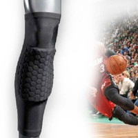 Cheap Wholesale-407-Wholesale-407-Honeycomb Pad Crashproof Antislip Basketball Leg Knee Long Sleeve Protector