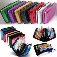 Wholesale Waterproof Aluminum Business ID Credit Card Mini Wallet Holder Pocket Case Boxs CWYE0487