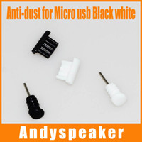 Wholesale Micro usb dustproof plug for Sumsung HTC mm earphone jack tansparence black white Anti dust plug