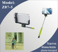 Wholesale 2014 Camera Tripod Extendable Handheld Camera wireless bluetooth selfie monopod With Cellphone Holder For iPhone Samsung HTC Digital Camera