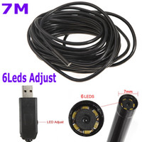 Wholesale Mini Security CCTV Cameras IP66 Waterproof mm USB Inspection Borescope Endoscope Snake Scope LED m Tube Micro Camera