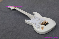 Wholesale 2015 left handed guitar Deep Scalloped Fretboard Dimarzio Noiseless Pickups Fat ST Body all white Finish Malmste Yngwie lefty hand guitar