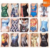 Wholesale Bikini S Bodysuit I AM THE BATMAN DIFFERENTLY SANE POISON IVYJOKER S REVENGE SWIMSUIT Digital Printing Swimwear Women EMS Fast Ship