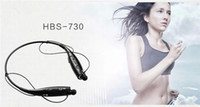 Cheap Wholesale - Wireless Bluetooth Sports 4.0 Stereo Headset Headphone earphone Neckband Handsfree HBS-730 With package
