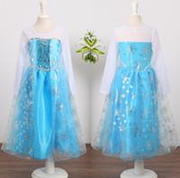 Cheap Wholesale - pre-order frozen princess clothing girls guaze dress frozen princess party dress frozen elsa snow queen costume dress LY-423 PT