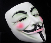 Wholesale Free DHL V Mask V for Vendetta Party Full Face Halloween Super Scary Guy Fawkes Christmas Masquerade Role play Masks Two Color Factory Price