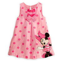 Summer minnie mouse dress - Baby New Arrival Summer Girls Pink Minnie Mouse Outfit Polka Dot Dress Childrens Dresses Girl Clothing