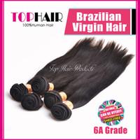 Cheap Brazilian Hair 7A Virgin Brazilian Hair Bundles Best Straight Under $50 Brazilian Straight Hair Weave