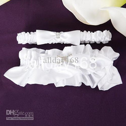 Wholesale white X diamond Bride Wedding bridal Garter Sexy Lace Garter With Bow