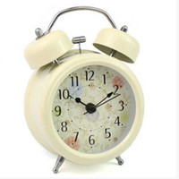 Cheap Genuine creativity among the cute cartoon lazybones alarm clock quiet double bell imported movement multicolor alarm clock