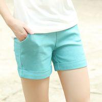 beach trousers - Summer New Push Size Short Pants Female Summer Hot Pants Female Beach Pants Elastic Waist Trousers Size S M L XL XXL XXXL XXXXL