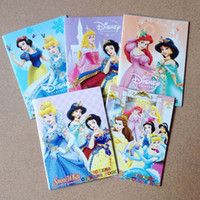 Wholesale Princess Cartoon quot x4 quot Kids Coloring Book with Stickers Drawing book Children Gift Hotsale