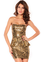 Wholesale 2014 Newest Summer Sexy Clubwear Elegant Dress Foil Bandeau Package Hip Dress Sequins Look Dress Fashion For Party B4458