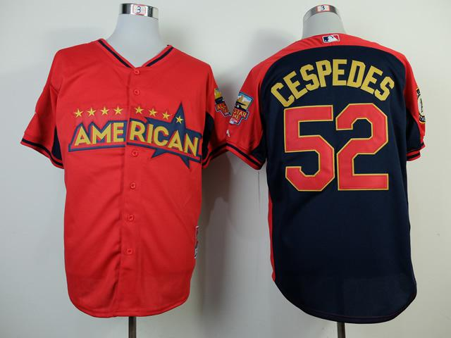 white mlb jerseys sale outlet oakland athletics 52 yoenis cespedes 2014 all star red jersey nflclear