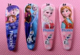 Wholesale Hot popular Frozen girls hairpins children cartoon princess elsa anna Hairpin Clip Hair Baby Hair Clip Hair Accessories