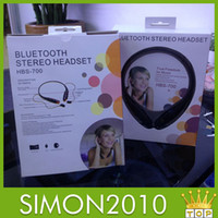 Universal Bluetooth Headset  Bluetooth HBS 700 HBS-700 Electronical Sports Stereo Wireless Colorful Headset Earphone Headphones for Iphone 4 5 5s 5c LG samsung