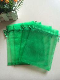 Free Ship High Quality 100pcs 13x18cm Green Organza bags Wedding Gift Bag Jewelry Pouch Hot sale