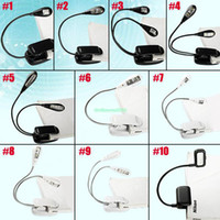Wholesale EB3371 Flexible Arm LED Clip Camping Light On Bed Book Reading Desk Laptop Stand Lamp