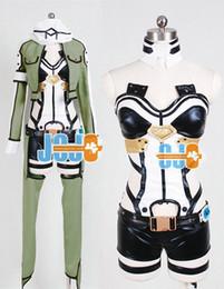 Wholesale Sword Art Online Phantom Bullet Cosplay Dresses Gun Gale Onlin Sinon Cosplay Costume Gun Gale Online Cosplay Costumes Japan Anime